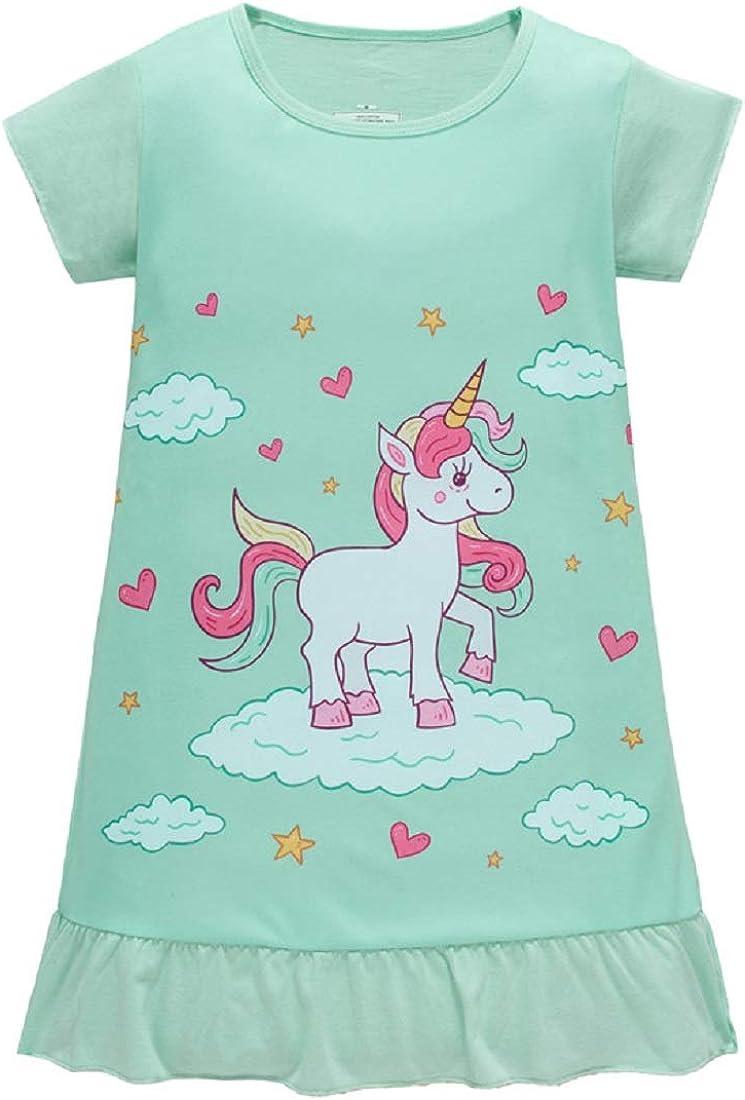 Toddler Children Girls Nightdress Unicorn Party Princess Dress Pajamas Clothes