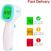 Digital Infrared Forehead Thermometer No-Touch Thermometer. ˚C / ˚F Adjustable with Fever Alert Function-3 in 1 Digital Medical Infrared Thermometer for Baby and Adult