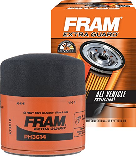 2019 Volkswagen Jetta Oil - FRAM PH3614 Extra Guard Spin-On Oil Filter