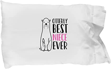 Amazon Com Barborasboutique Best Niece Ever Pillowcase Funny Cute Otter Pillow Case Cover Gift For Niece Sister S Daughter From Uncle Aunt Aunty Auntie Mother S Day Birthday Present Home Kitchen