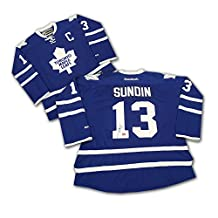 Mats Sundin Autographed Blue Toronto Maple Leafs Jersey