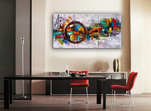 Santin art circle of magic modern canvas art wall decor for Best brand of paint for kitchen cabinets with hanging canvas wall art