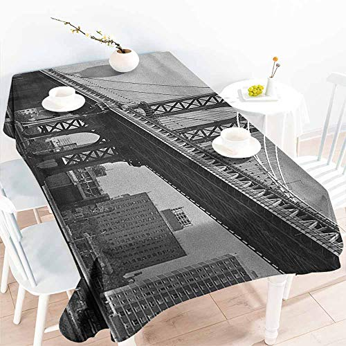 Willsd Tablecloth for Kids/Childrens,New York Bridge of NYC