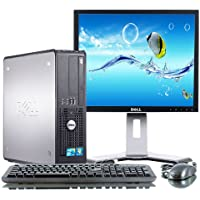 Dell Optiplex Intel Core 2 Duo 3000 MHz, 1 Terabyte Serial ATA HDD, New 8GB Memory, DVD ROM, Genuine Windows 7 Professional 64 Bit + 19 LCD Monitor(Brands may vary)-(Certified Reconditioned)