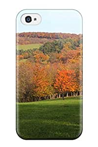 Flexible Tpu Back Case Cover For Iphone 4/4s - Bei Ipsheim Earth Autumn Nature Autumn
