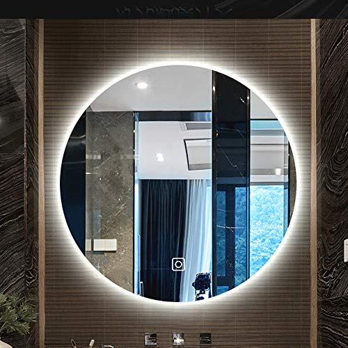 Nordic Round Illuminated LED Backlit Bathroom Mirror Light Frameless Wall-Mounted Toilet Decoration - Mirrors Socket Backlit Shaver Bathroom With