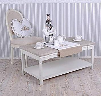 Wohnzimmertisch Landhausstil Weiss Tisch Couchtisch Palazzo