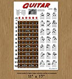 Guitar Fretboard and Chord Chart Instructional