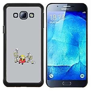 Caucho caso de Shell duro de la cubierta de accesorios de protección BY RAYDREAMMM - Samsung Galaxy A8 A8000 - Divertido Conductor Borracho
