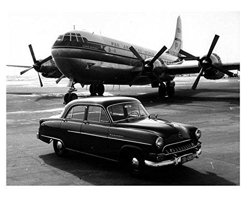 1953 Opel Kapitan Pan Am Clipper Airplane Photo Poster