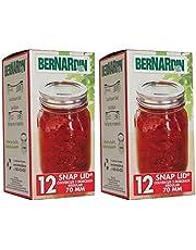 Bernardin Mason Jar Lids & Screw Bands - Standard