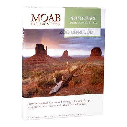 Moab Somerset Photo Enhanced, Radiant White Matte Velvet Inkjet Paper, 15 mil., 13x19