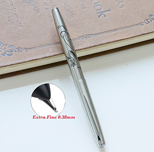 1pcs Jinhao 911 0.38mm Extra Fine Fountain pen Carving dragon Office Supplies Ink Pens for Writing (Color-1)