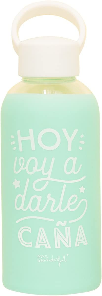 Mr; Wonderful Woa08624Es Botella De Cristal Para Que El Ritmo No Pare, Multicolor, 19.8X6.4X6.4 Cm