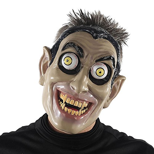 Halloween Mask. Best Costume, Dress, Outfit Supplies, Accessories For Scary, Cool, Creepy, Unusual, Spooky, Fun Party. For Children, Kids, Teens, Adults, Couples, Boys, Girls (Googly Eyes Vampire) ()