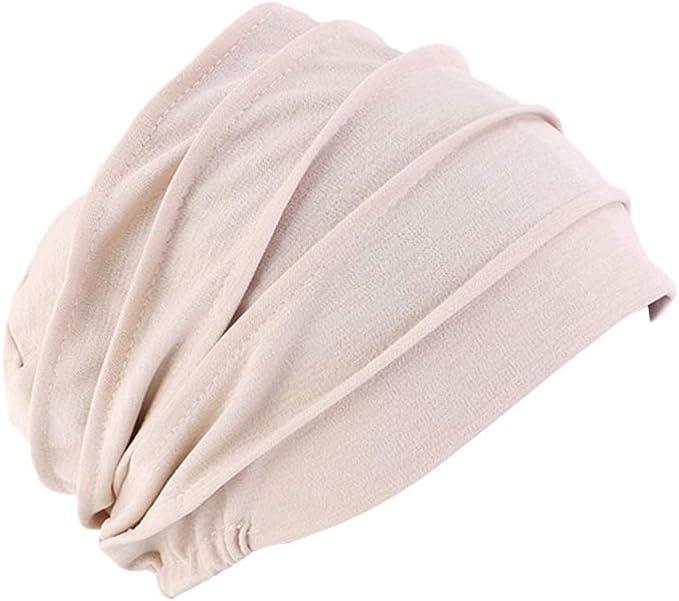 Frauen Baumwolle Chemo H/üte Slouchy Soft Bandana Vor Gebunden Beanie Turban Cap f/ür Krebspatienten Haarausfall 2 Pack