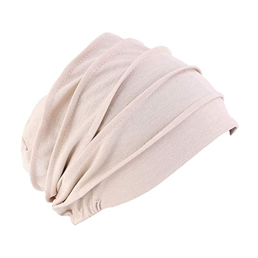 512358a1447 XiFe Unisex Indoors Cotton Beanie- Soft Sleep Cap for Hairloss ...