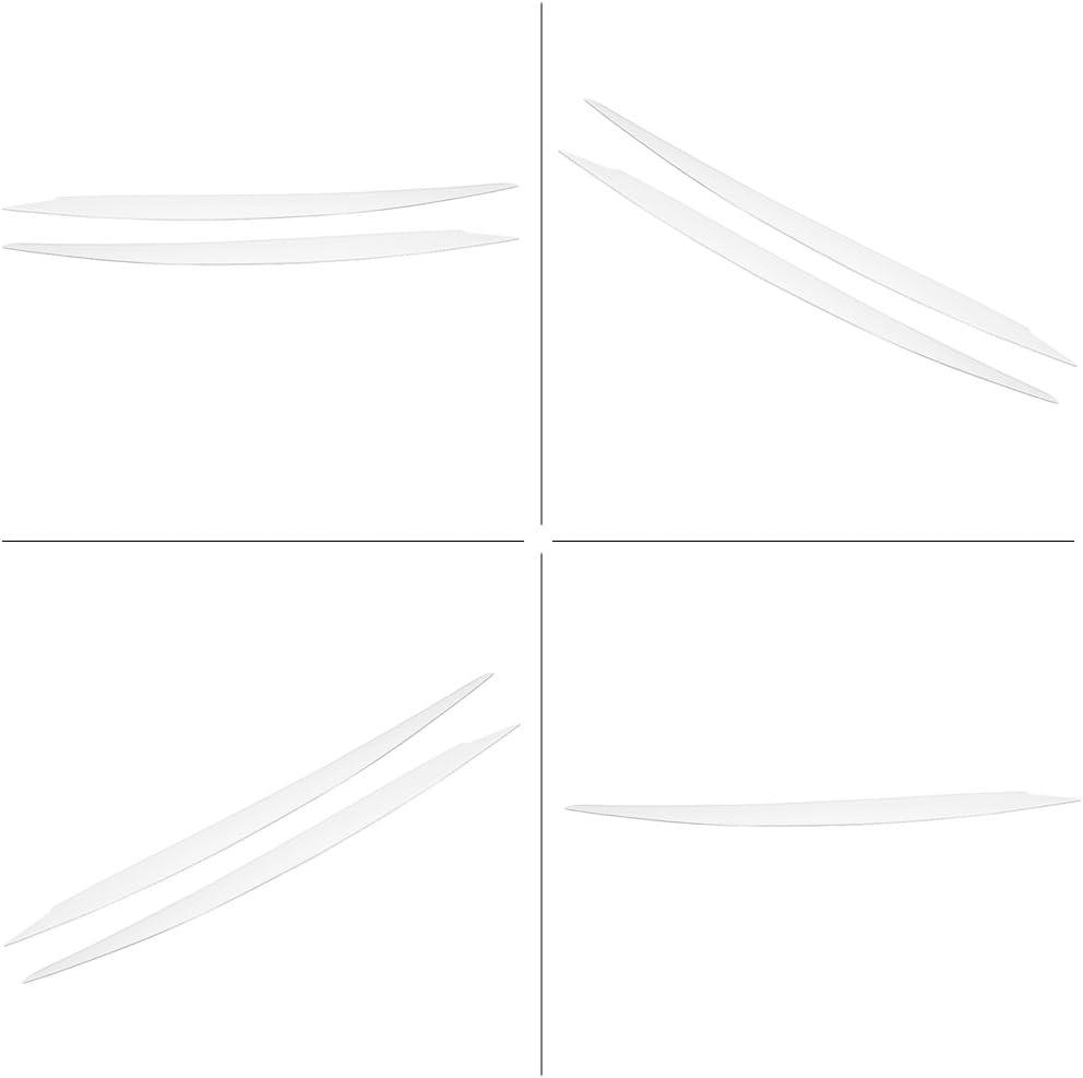 Hlyjoon Scheinwerfer Augenbraue 1 Paar Auto Scheinwerfer Augenbraue Kfz Scheinwerfer Augenbraue Ordnung Links Rechts Passte f/ür 7 2013 2014 2015 2016 2017 2018 Schwarz