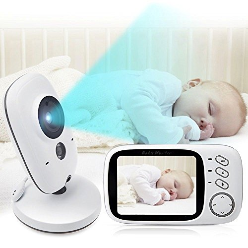 Baby Monitor, Ibdone Wireless Video Baby Monitor with LCD Display, Digital Camera, Infrared Night Vision, Temperature Detection, Night Light, Lullabies, 2 Way Talking Support Data Encryption -  PaiPai