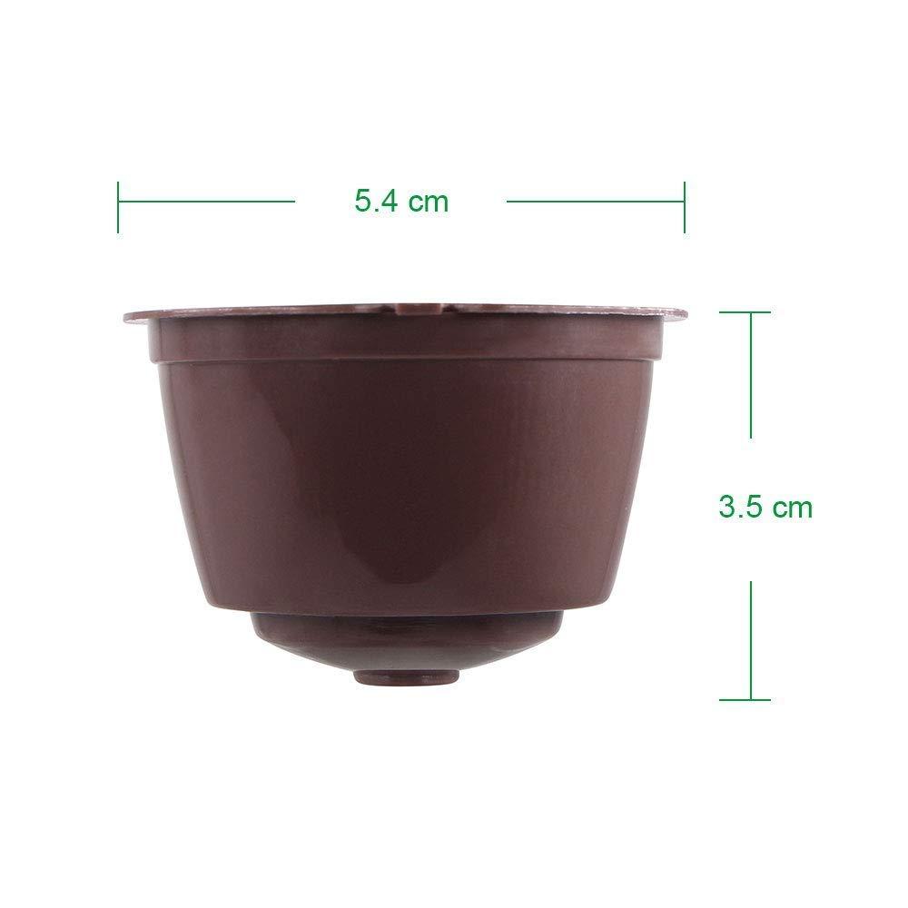 Letilio Filtros Cápsulas de Café puede rellenar reutilizar para Dolce Gusto Cafetera fuerte al menos 160 veces de usos para reemplazo,6 pcs con 2 cucharón ...