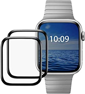 Screen Protector for Apple Watch Series 5 (40mm) Max Coverage - Full Coverage 3D Screen Tempered Glass for Apple Watch Edition Series 5 40mm /Apple Watch Series 5 Aluminum 40mm