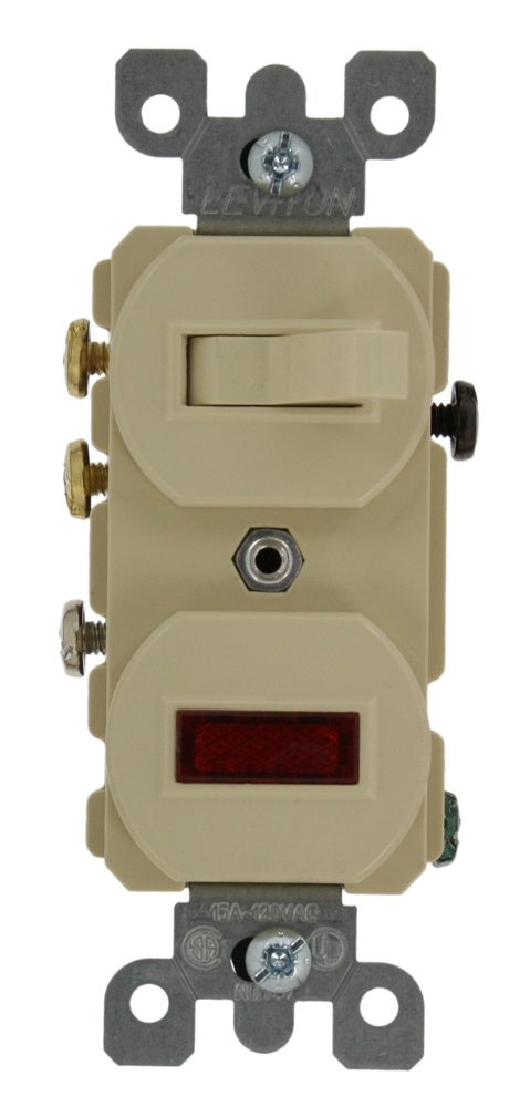 510TtzRIBxL._SL1000_ leviton 5246 i 15a, 120v, duplex style 3 way, neon pilot ac 3 way switch with pilot light wiring diagram at creativeand.co