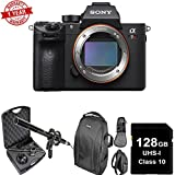 Sony a7R III 42.4MP Full-frame Mirrorless W/Microphone Kit| 128GB Memory Card | DSLR Backpack Bundle