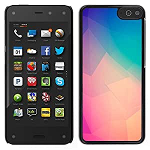 [Neutron-Star] Snap-on Series Teléfono Carcasa Funda Case Caso para Amazon Fire Phone [Teal Peach Purple Yellow Polygon Art]