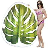 JOYIN Giant Inflatable Tropical Leaf Pool Float, Fun Beach Floaties, Swim Party Toys, Pool Island, Summer Pool Raft Lounge for Adults & Kids