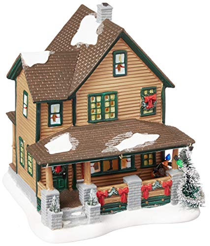 Department 56 Christmas Story Village Ralphies House Lit Building (Ice Sculpture Decorations Christmas)