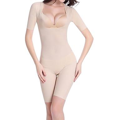 ddd6842ecfb2f Shymay Women s Full Bodysuit Shapewear Seamless Tummy Control Mid Thigh Body  Shaper