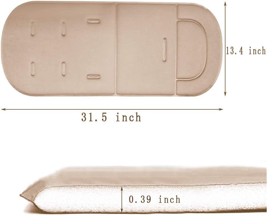 Doublures de poussette bleu coussin de coton de mousse de tapis de poussette de b/éb/é//voiture