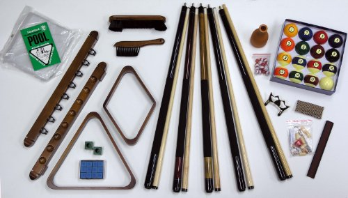Fairview Game Rooms Premier 32-Piece Pool Table Accessory Kit (Honey)
