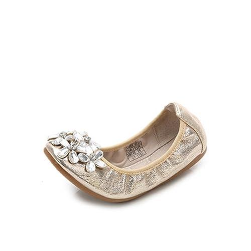Girls Kids Flat Rhinestone Bow Wedding Slip on Shoes 11-4 BUY ONE GET ONE FREE