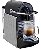 Nespresso D60 Pixie Espresso Maker, Chrome with Steel Dots