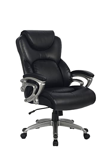 Amazoncom Office Chair with Bonded Leather High Back Thick