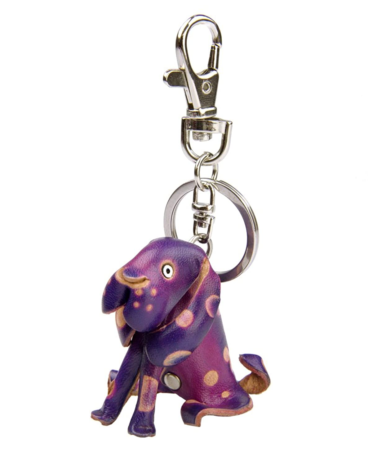Leather Keychain - Hound Dog