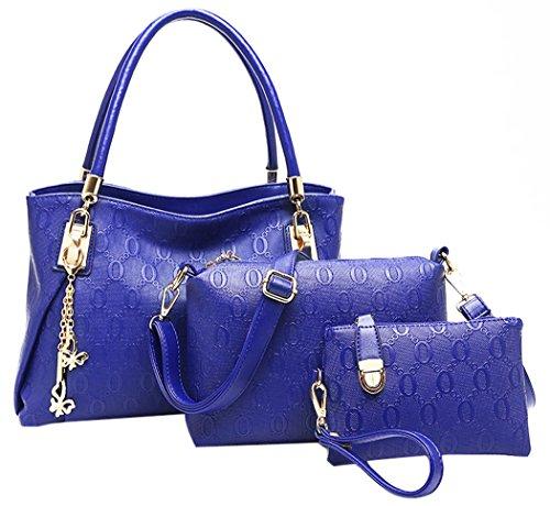 Coofit Women Vintage Leather Handbag Shoulder Bag tote Satchel Hobo Set