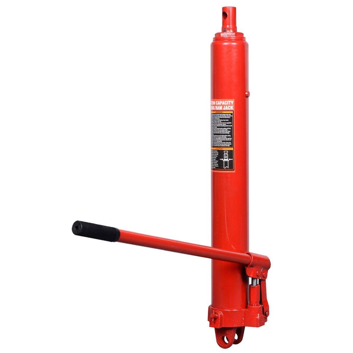 Goplus Long Hydraulic Ram Jack Engine Lift Hoist Manual Cherry Picker w//Handle 8 Ton Capacity