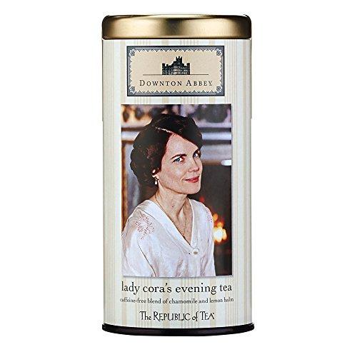 Linden Lemon Tea (The Republic Of Tea Downton Abbey Lady Cora's Evening Herbal Tea, 36 Tea Bags, Gourmet Chamomile Tea)