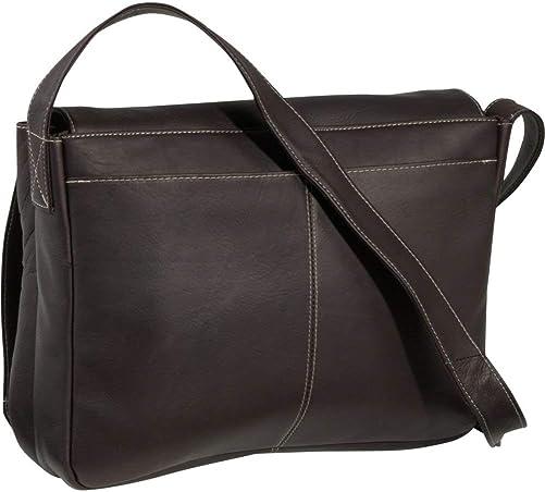 Le Donne Full Flap Laptop Messenger Bag, Leather Computer Bag in Tan