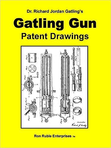 Dr  Richard Jordan Gatling's GATLING GUN PATENT DRAWINGS