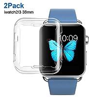 Apple Watch Series 2 & Series 3 Case 38mm, Bestfy [2 Pack] HD Clear Ultra-slim TPU iWatch Screen Protector All-Around Protective Cover for Apple Watch Series 3 Series 2 (38mm, Clear) by Bestfy