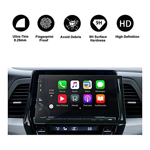2018 2019 Honda Odyssey 8 In Display Audio Touch Screen Car Navigation Screen Protector, RUIYA HD Clear TEMPERED GLASS Car In-Dash Screen Protective Film by R RUIYA