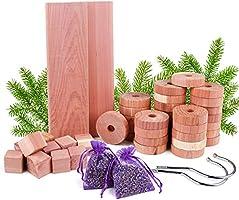 Répulsif contre les mites en bois de cèdre, pack de 50 sacs de lavande de boules Anti-mites en bois de cèdre, ensemble de...