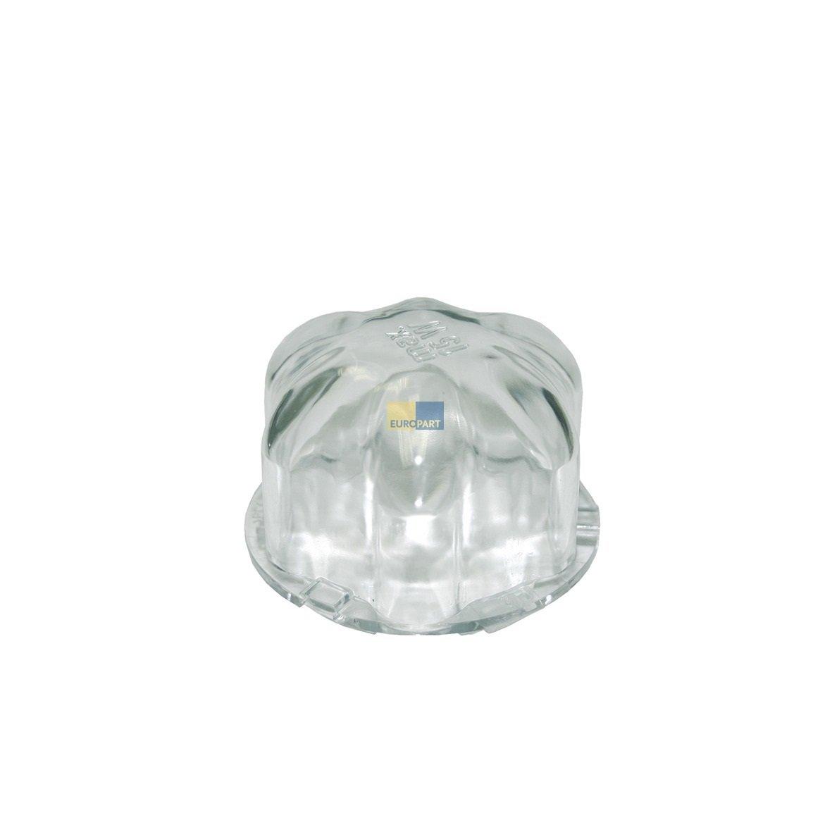 Kunststoff Lampenglas Abdeckung Kalotte Trockner Leuchte ORIGINAL Miele 4919583