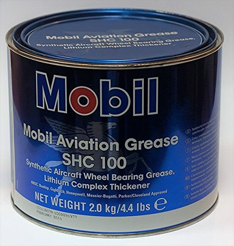 Mobil - SHC 100 Synthetic Aviation Grease, 4.4lb SHC100AVI4-4L by Mobil 1