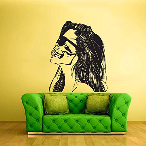 A decals cool Home Decor- Wall Vinyl Sticker Bedroom Decal Zomby Skull Girl Horror Halloween