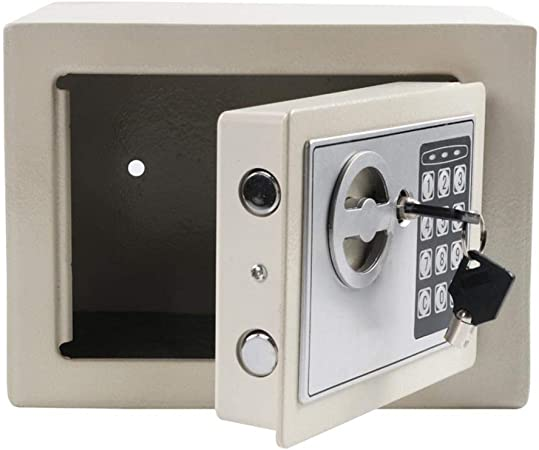 Caja Fuerte Gabinete Digital pequeñas Caja sólida de acero joyería ...
