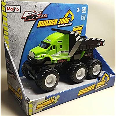 Fresh Metal Builder Zone Quarry Monsters Dump Truck by Maisto Fresh Metal: Toys & Games